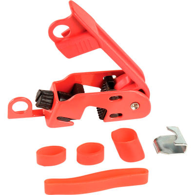 Master Lock® Grip Tight Circuit Breaker Lockout, Fits Std. Height & Tie-Bar Toggles