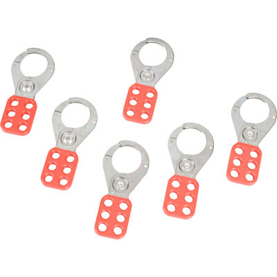 """Master Lock® Steel Lockout Hasp, 1-1/2"""" Jaw Clearance, 421"""