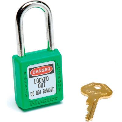 Master Lock® Safety 410 Series Zenex® Thermoplastic Padlock, Green, 410GRN