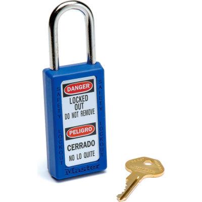 Master Lock® Safety 411 Series Zenex™ Thermoplastic Padlock, Blue, 411BLU