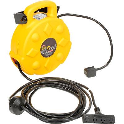 Bayco® Professional Quad-Tap Extension Cord SL-8904-40, 40'L Cord, 12/3 GA