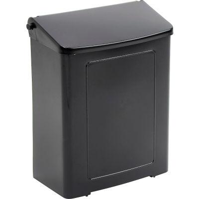 Impact® Safe-Use® Plastic Sanitary Napkin Receptacle - Black, 1103