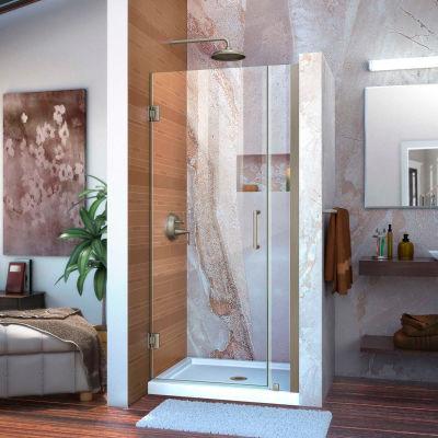 """DreamLine™ Unidoor Frameless Adjustable Shower Door SHDR-20357210-04, 35""""-36"""""""
