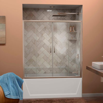 "DreamLine™ Visions Clear Glass Bathtub Door SHDR-1160586-04, 56""-60"" x 58"""