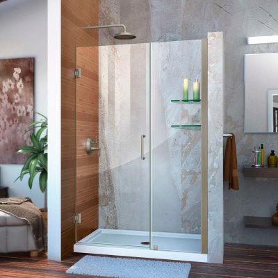 """DreamLine™ Unidoor Frameless Adjustable Shower Door SHDR-20487210S-04 W/Glass Shelves, 48""""-49"""""""