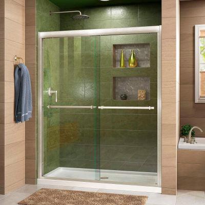 """DreamLine™ Duet Bypass Sliding Shower Door SHDR-1260728-04, 56""""-60"""" x 72"""""""