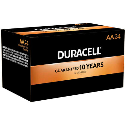 Duracell® Coppertop®  AA Batteries W/ Duralock Power Preserve™ - Pkg Qty 24
