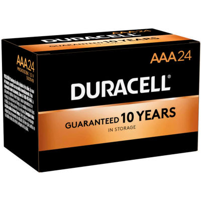 Duracell® Coppertop®  AAA Batteries W/ Duralock Power Preserve™ - Pkg Qty 24