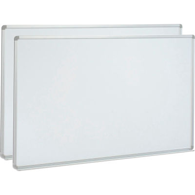 Global Industrial™ Magnetic Whiteboard - 96 x 48 - Steel Surface - Pack of 2