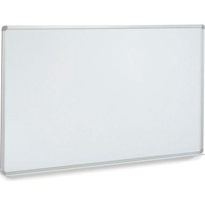 "Global Industrial™ Wall-Mounted Magnetic Whiteboard With Aluminum Frame, 96""W x 48""H"