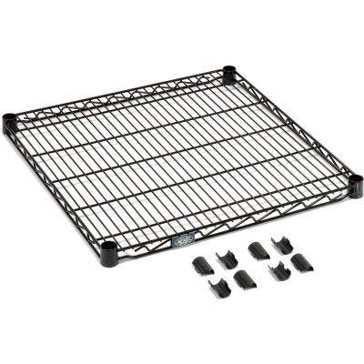"""Nexel® S2472B Black Epoxy Wire Shelf 72""""W x 24""""D"""