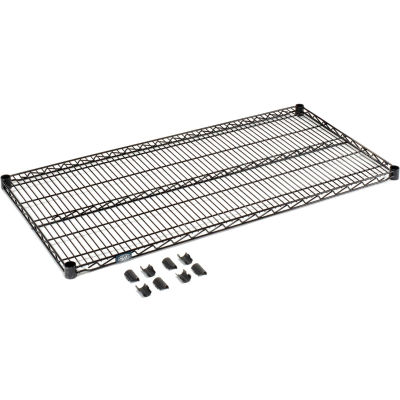 """Nexel® S1472B Black Epoxy Wire Shelf 72""""W x 14""""D"""