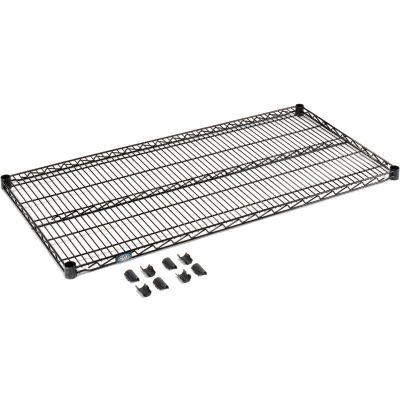 """Nexel® S2148B Black Epoxy Wire Shelf 48""""W x 21""""D"""