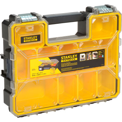"Stanley FMST14820 Fatmax® 17-1/2"" x 14"" x 4-1/2"" 10 Compartment Professional Organizer"