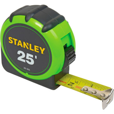"Stanley 30-305 1"" x 25'  High-Visibility Tape Rule"