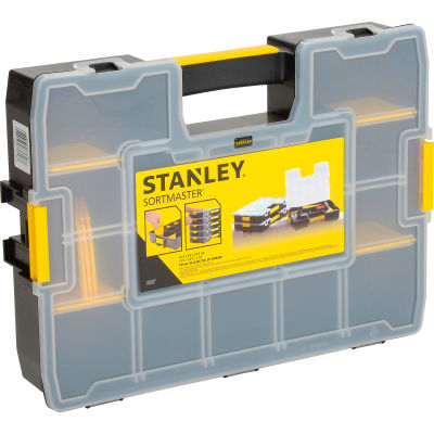 """Stanley STST14027 SortMaster 17-3/8""""x13""""x3-1/2"""" 17-Compartment Stackable Small Parts Organizer"""