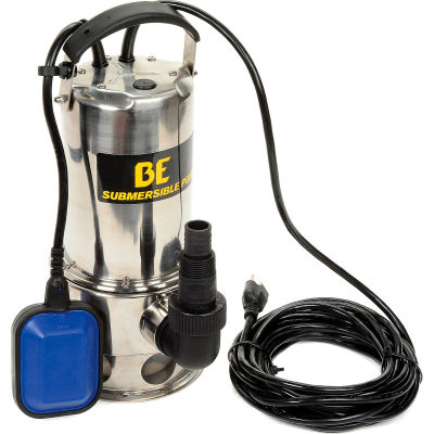 Be Pressure ST-900SD Submersible Pump, 1-1/4 HP Side Discharge
