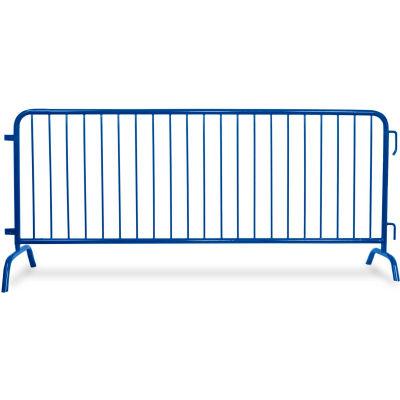 "Queue Solutions CrowdMaster™ 1000 Steel Barricade, 100""L x 43""H, Bridge Feet, Blue"