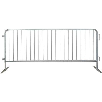 "Queue Solutions CrowdMaster™ 1000 Steel Barricade, 100""L x 43""H, Flat Feet, Galvanized"