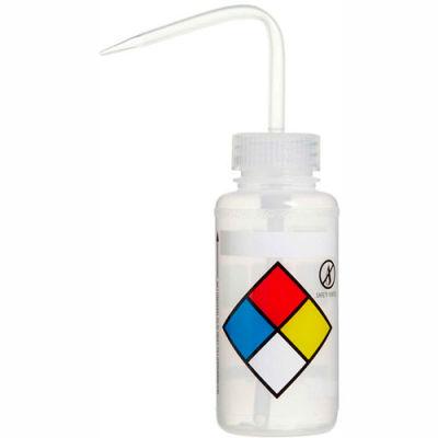 Bel-Art LDPE Wash Bottles 118080009, 250ml, Write On Label, Natural Cap, Wide Mouth, 4/PK