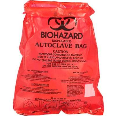 "Bel-Art Red Bench-Top Biohazard Bags 131660001, 0.43 Gallon, 0.72 mil Thick, 8.5""W x 11""H, 1000/PK"