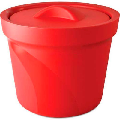 Bel-Art Magic Touch 2™ Ice Bucket with Lid 168074003, 4.0 Liter, Red, 1/PK