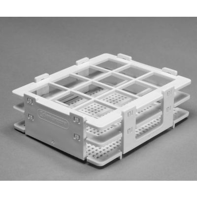Bel-Art No-Wire™ PP Bottle And Vial Rack 185140025, For 20-25mm Vials, 12 Places, White, 1/PK