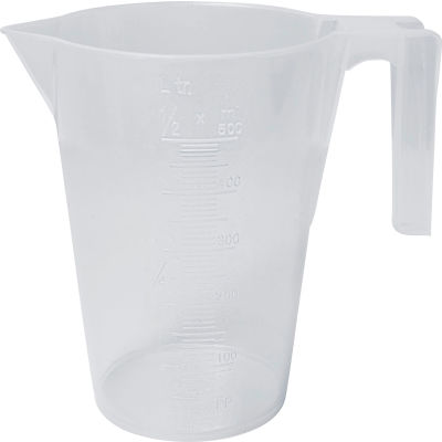Bel-Art PP Tall Graduated Pitcher 289900000, 500ml Capacity, 10ml Graduation, Clear, 1/PK
