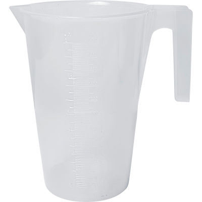 Bel-Art PP Tall Graduated Pitcher 289920000, 2000ml Capacity, 20ml Graduation, Clear, 1/PK