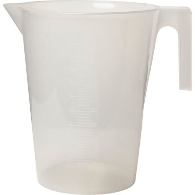 Bel-Art PP Tall Graduated Pitcher 289940000, 5000ml Capacity, 100ml Graduation, Clear, 1/PK