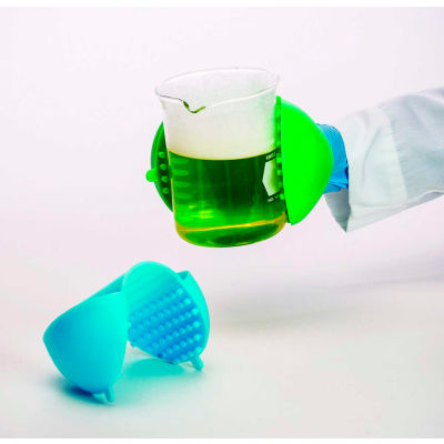 """Bel-Art F38000-0002 Hot Hand Protector, Silicone, 3-7/8""""W x 7-1/2""""H, Lime Green, 1/PK"""