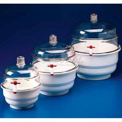 Bel-Art Space Saver Polycarbonate Vacuum Desiccator 420100000, 0.09 Cu. Ft., White Bottom, 1/PK