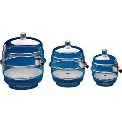 Bel-Art Space Saver Polycarbonate Vacuum Desiccator 420220000, 0.20 Cu. Ft., Clear Bottom, 1/PK