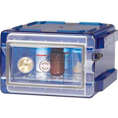 Bel-Art Secador® 1.0 Vertical Desiccator Cabinet 420710007, 0.7 Cu. Ft., Blue with Clear Door