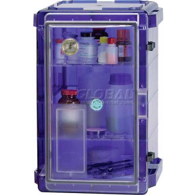 Bel-Art Secador® 4.0 Vertical Desiccator Cabinet 420741007, 1.9 Cu. Ft., Blue with Clear Door