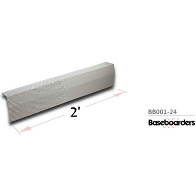 Baseboarders® Premium Series 2 ft Steel Easy Slip-on Baseboard Heater Cover, White