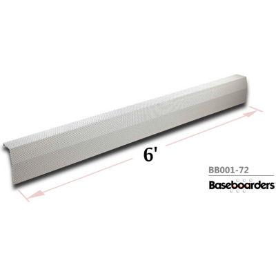 Baseboarders® Premium Series 6 ft Steel Easy Slip-on Baseboard Heater Cover, White