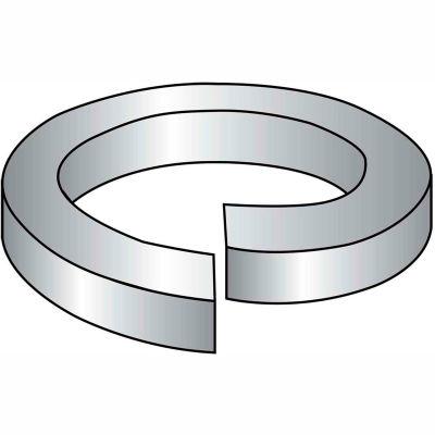 "Hi Collar Split Lock Washer - 1/4"" - Thru Hardened Medium Carbon Steel - Plain - 100 Pk - BBI 013014"