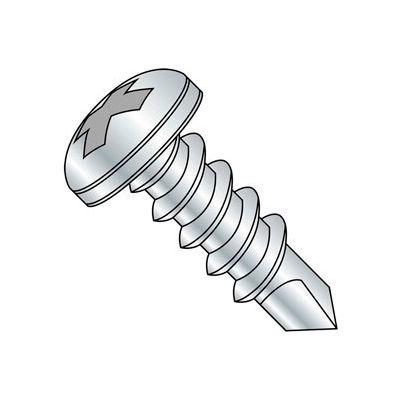 "#10-16 x 3"" Self-Drilling Screw - Phillips Pan Head - 410 Stainless Steel - FT - 200 Pk"