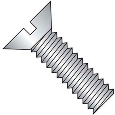 "12-24 x 2-1/2"" Machine Screw - Flat Head - Slotted - Steel - Zinc CR+3 - FT - 100 Pk - BBI 580549"