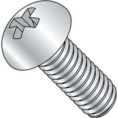 "10-24 x 1-1/2"" Machine Screw - Round Head - Phillips - Steel - Zinc CR+3 - FT - 100 Pk - BBI 588447"