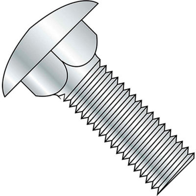 M10 x 1.5 x 30mm Carriage Bolt - Round Head - Steel - Zinc - FT - Class 4.6 - DIN 603 - Pkg of 30