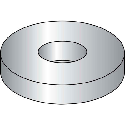 "Flat Washer - 1/2"" - Low Carbon Steel - Zinc Clear CR+3 - USS - Pkg of 100 - BBI P43006"