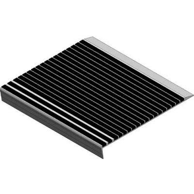 "Babcock-Davis® Stair Tread With Bar Abrasive BSTRB-A11D-48, Extruded Aluminum, 48""W X 11""D"