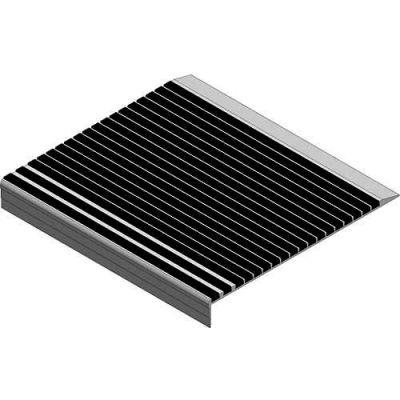 "Babcock-Davis® Stair Tread With Bar Abrasive BSTRB-L11D-48, Extruded Aluminum, 48""W X 11""D"