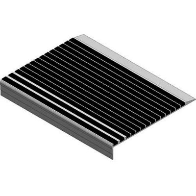 "Babcock-Davis® Stair Tread With Bar Abrasive BSTRB-L9D-48, Extruded Aluminum, 48""W X 9""D"