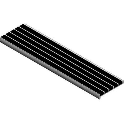 """Babcock-Davis® Stair Tread With Bar Abrasive BSTSB-C3D-72, Extruded Aluminum, 72""""W X 3""""D"""