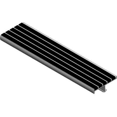 """Babcock-Davis® Stair Tread With Bar Abrasive BSTSB-C3E-48, Extruded Aluminum, 48""""W X 3""""D"""