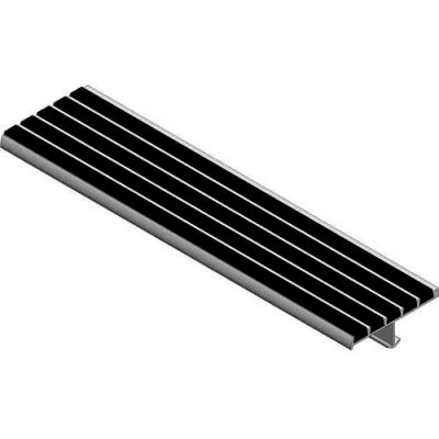 """Babcock-Davis® Stair Tread With Bar Abrasive BSTSB-P3E-72, Extruded Aluminum, 72""""W X 3""""D"""