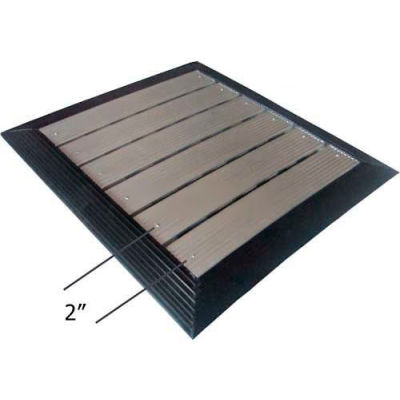 "Babcock-Davis® Roll Up Entrance System M-1050, Vinyl Hinge, Aluminum Rail, 75-1/4""W X 75-1/4""D"